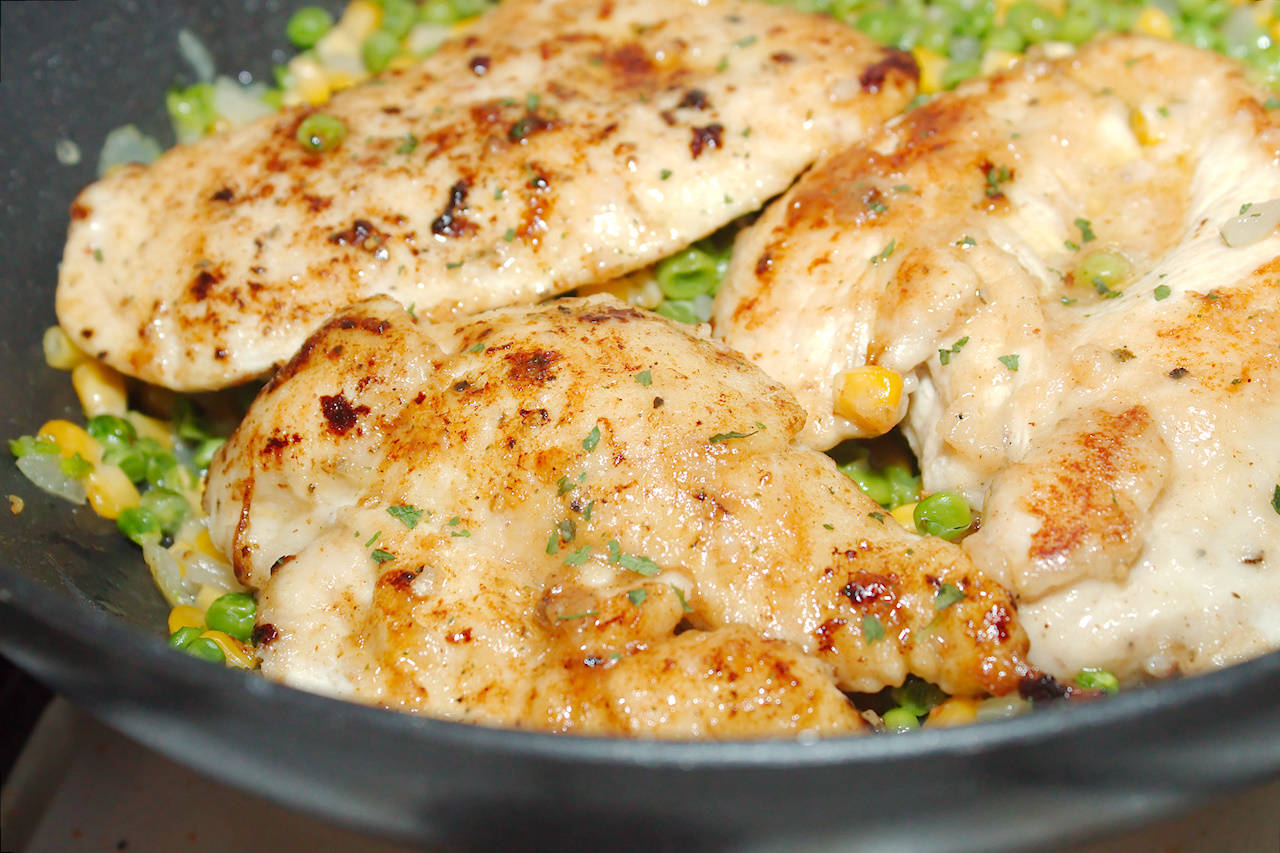 Balzsamecetes csirke zöldségkörettel recept főfotó