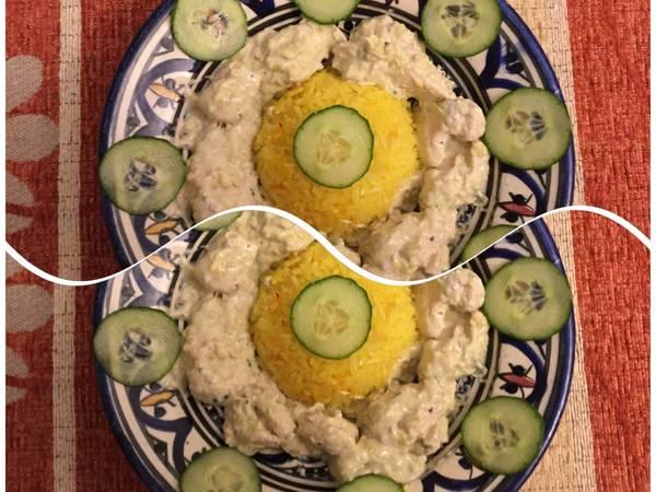 Mustáros csirkemell, sáfrányos rizzsel