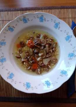 Szegfűgomba leves tarhonyával