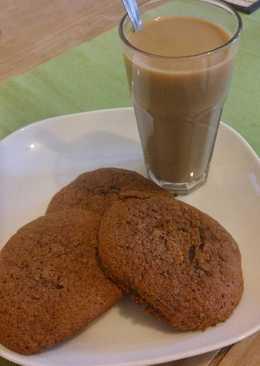 Kávés, diós cookies