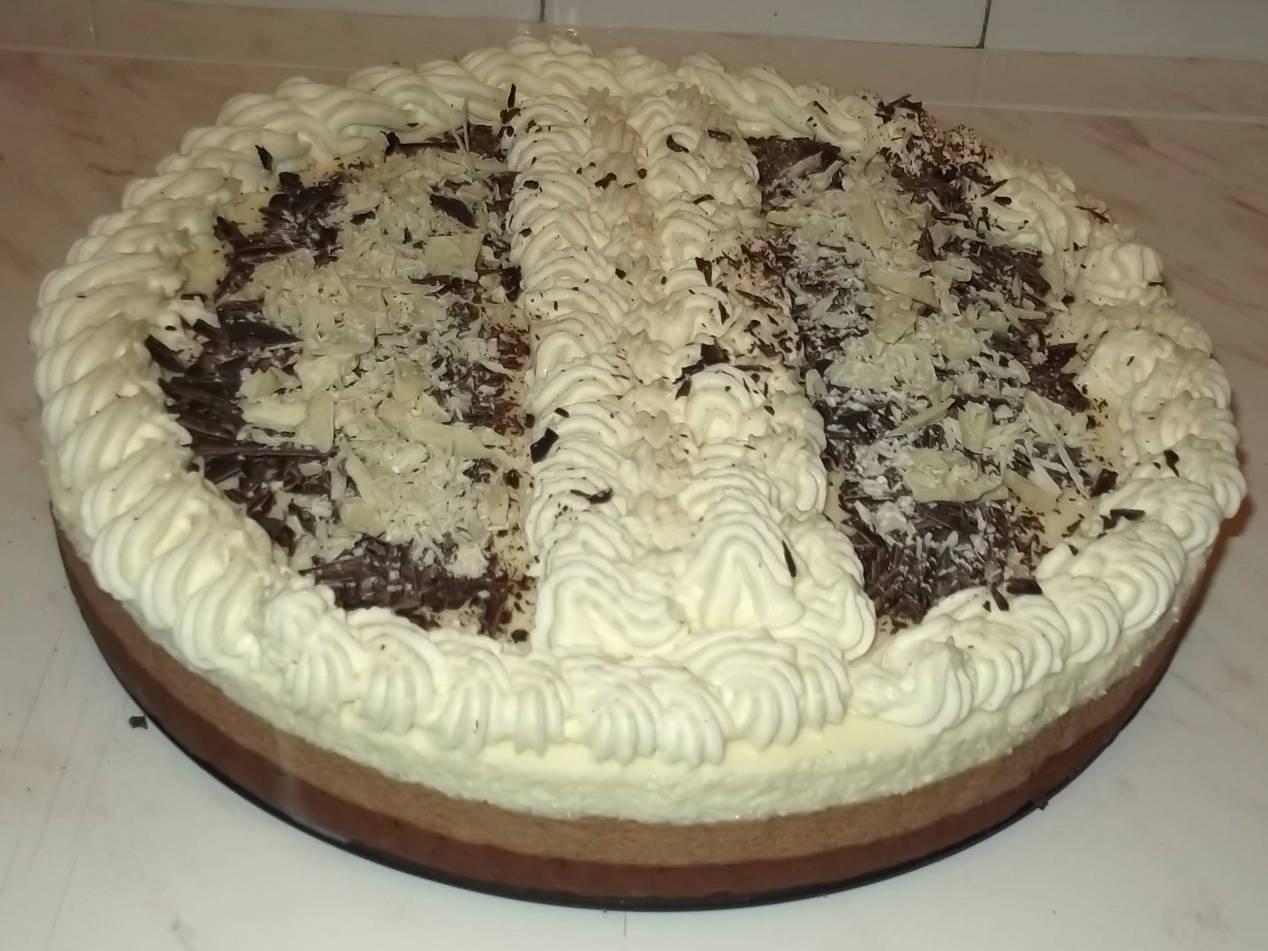 Triplacsokis mousse torta recept főfotó