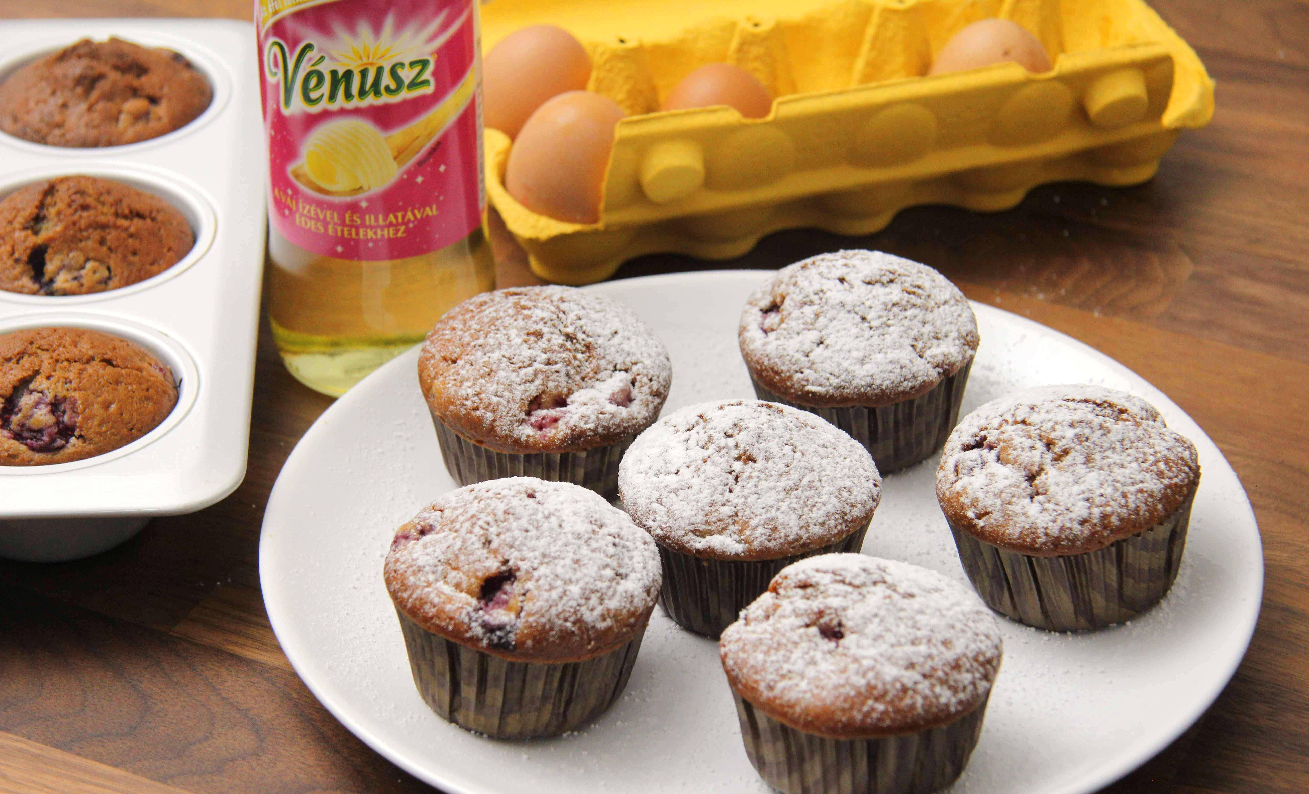 Málnás joghurtos muffin recept főfotó