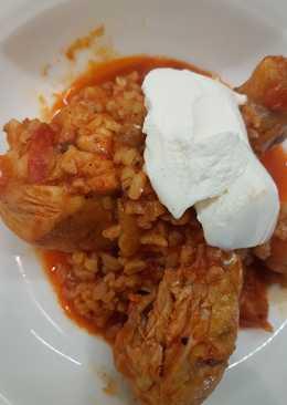 Bulguros csirke