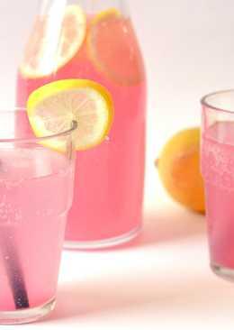 Rebarbarás-citromos limonádé