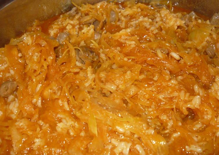 Csirkeszívpörkölt recept savanyú káposztával