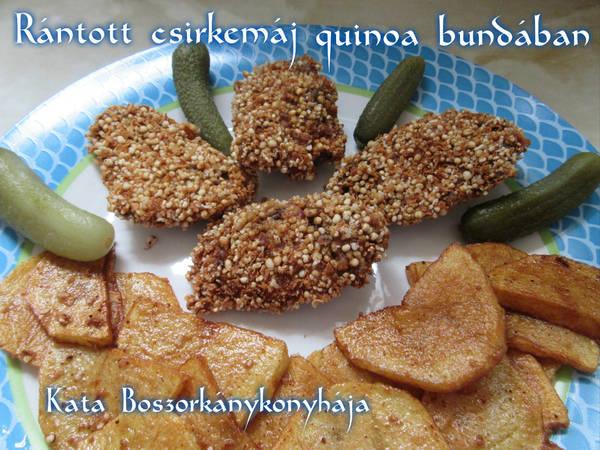 Rántott csirkemáj quinoa bundában