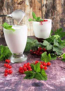 Kókuszjoghurt ribizlivel