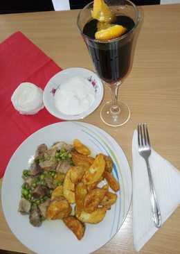 Brassói apró pecsenye zöldborsóval, fűszeres steak 🍟🍖