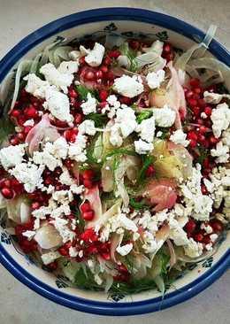 Gránátalmás édeskömény saláta kecskesajttal