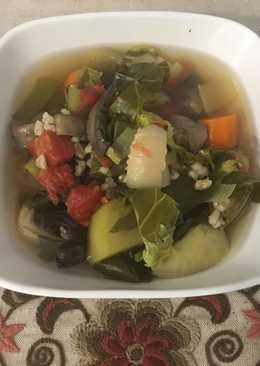 Gombás árpagyöngy leves