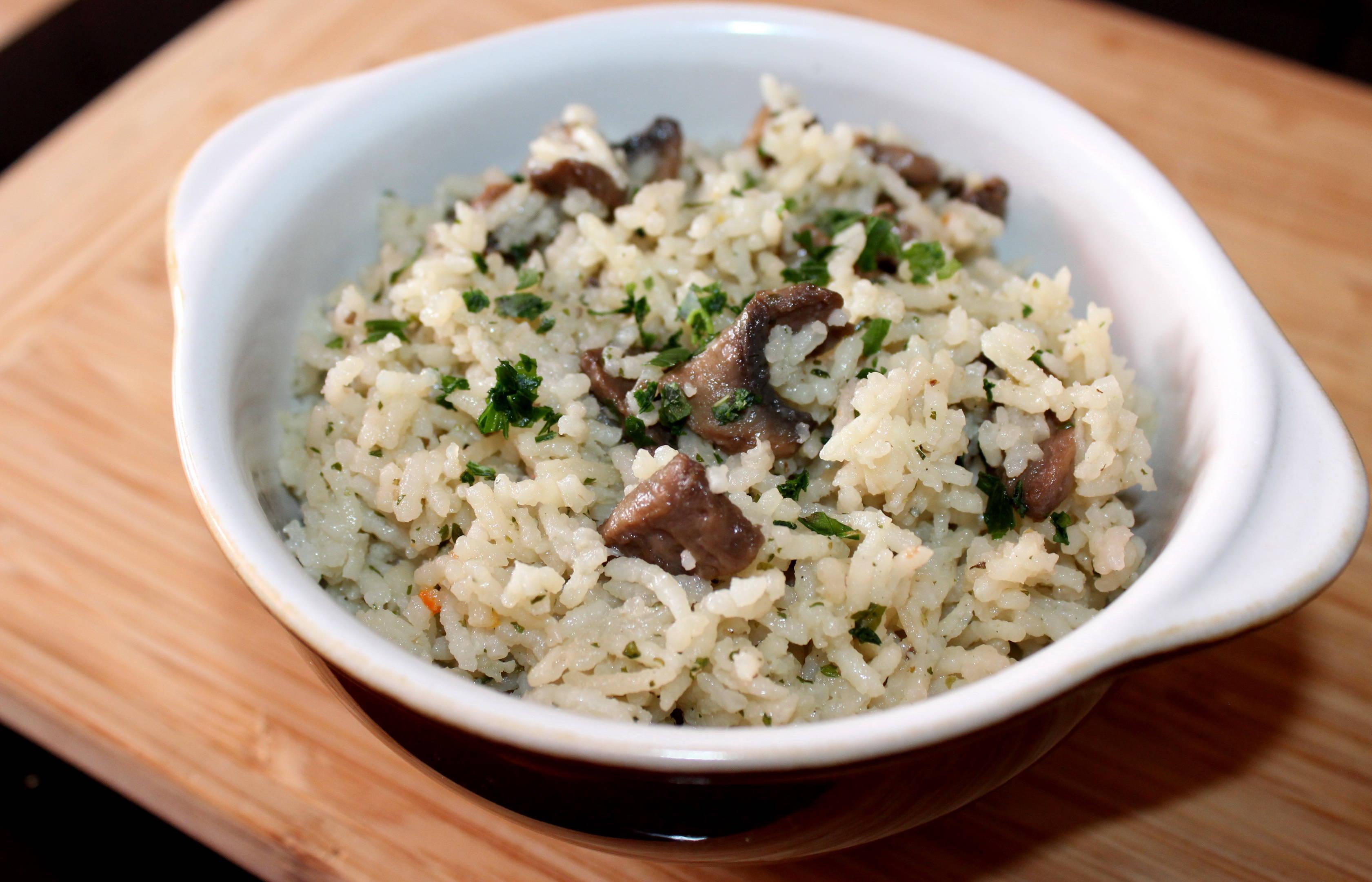 Gombás-hagymás rizs recept főfotó