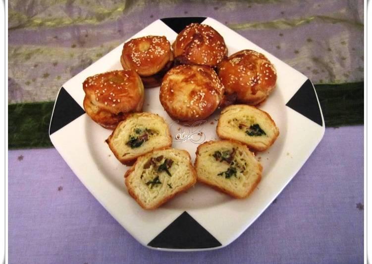 Farsangi muffin, medvehagymával
