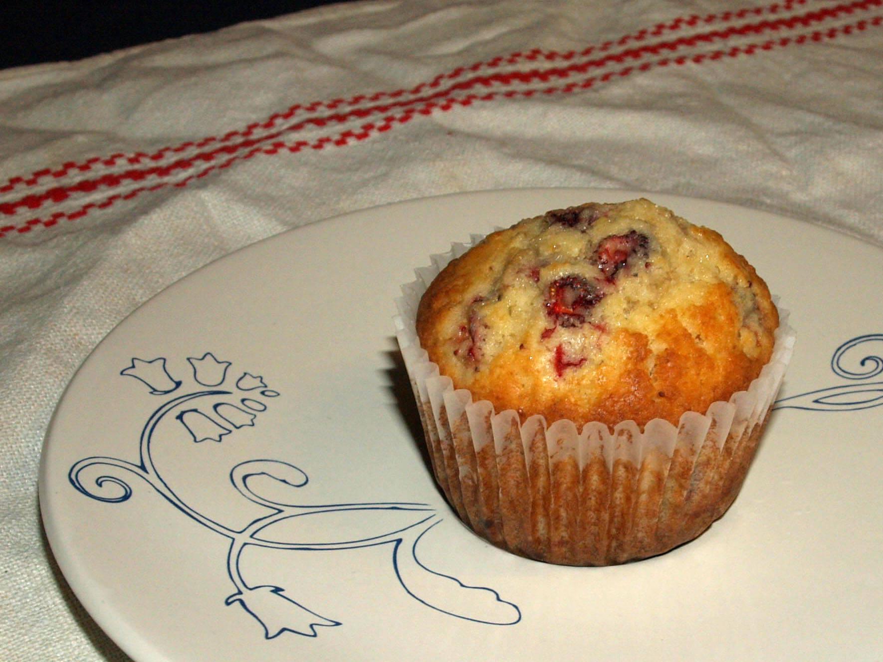 Erdei szamócás muffin recept főfotó