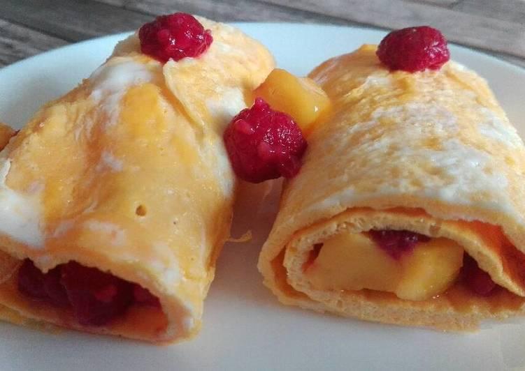 Gyümölcsös tojáspalacsinta