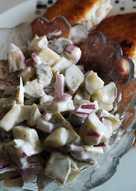 Majonézes csemegeuborka saláta