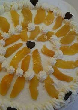 Túros-tejszínes barackos torta #valentinnap