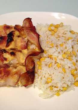 Baconos-fetás csirkemell