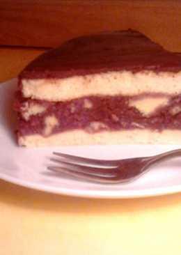 Csokoládémázas puncstorta