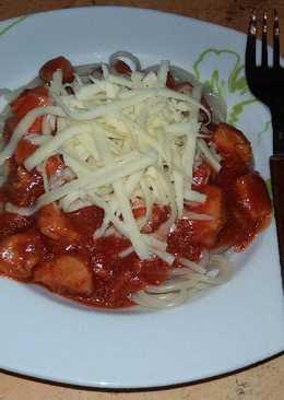 Bolognai spagetti csirkemellből