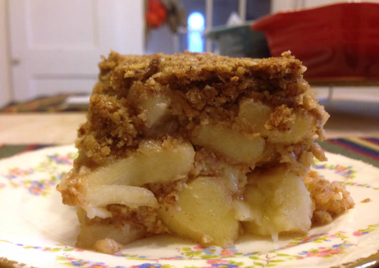 Reform mézes almás kocka