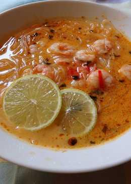 Laksa currys garnélával