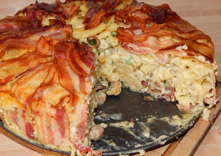 Baconos makaróni torta