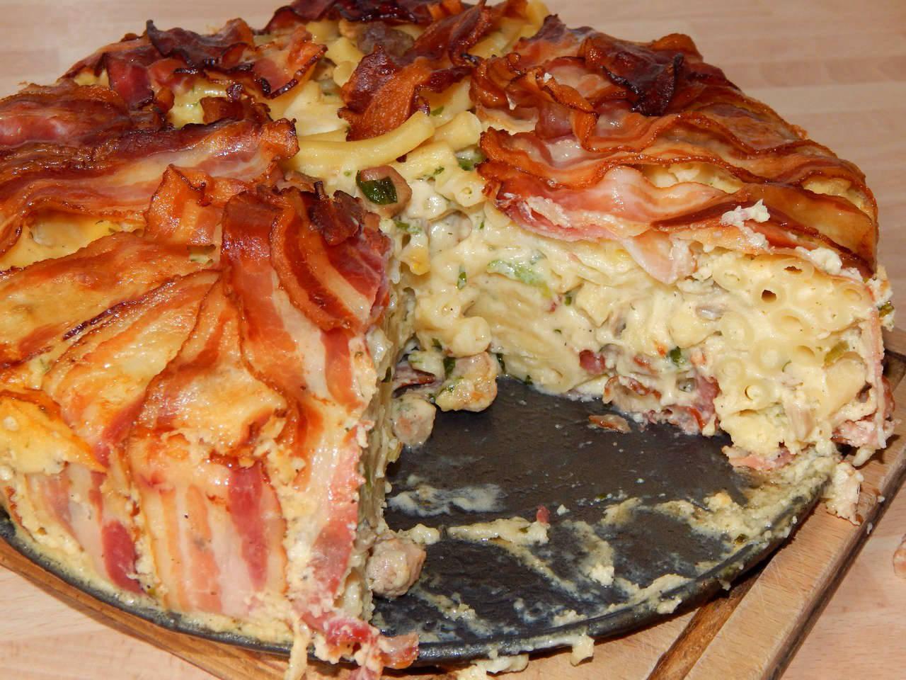 Baconos makaróni torta recept főfotó