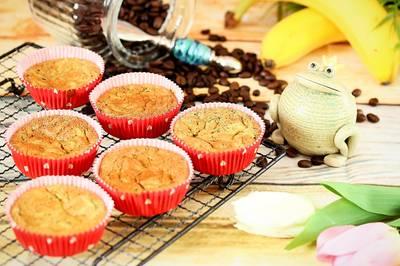 Banános cukkinis laktózmentes muffin