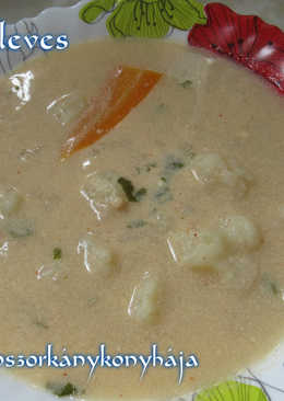 Karfiolleves (Gluténmentesen is)
