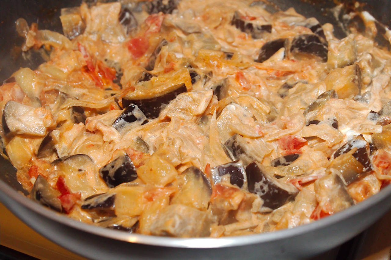 Padlizsános tészta recept főfotó
