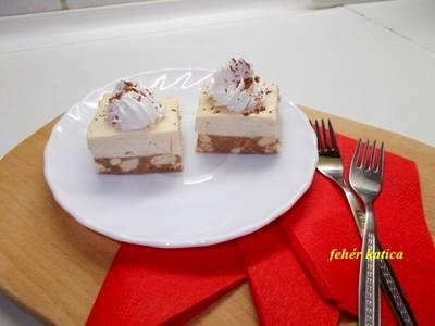 Gesztenyekocka fehér csokis pudingkrémmel