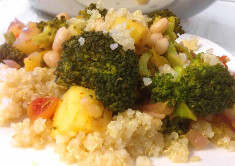 Ananászos brokkoli curryvel