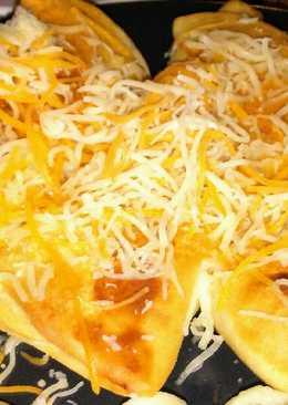 Rantott sajttal toltott tortilla