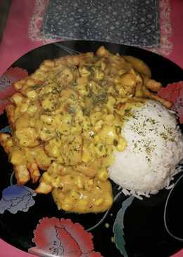 Eredeti currys tejszínes csirke