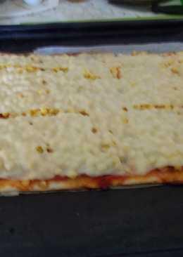 Sonkás, kukoricás pizza