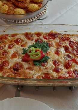 Csirkemell paradicsomos Carbonara mártásban, mozzarellával sütve