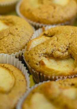 Őszibarackos zabpelyhes müzli muffin