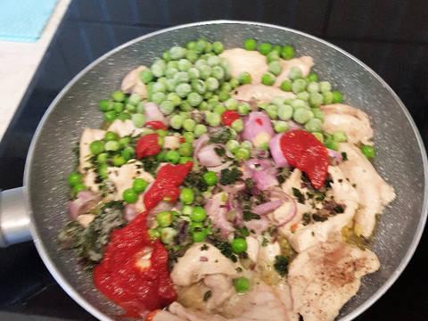 Zöldborsós csirkemell ragú recept lépés 3 foto
