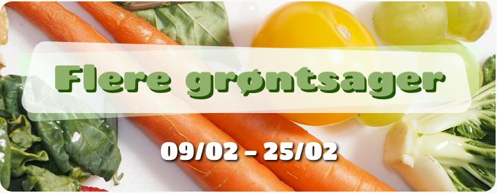 Flere grøntsager