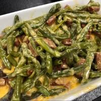 Cremet chorizo og grønne bønner