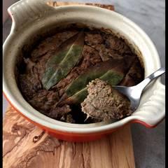 Cooksnap af Postej af andelever, kråse, hjerte og lidt andekød