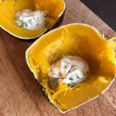 Cooksnap af Hele bagte rondini (små runde squash)