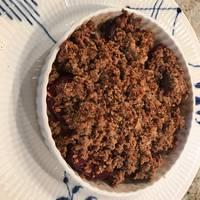 Bagte rødbeder med svampe-crumble