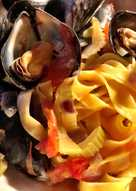 Pasta med blåmuslinger