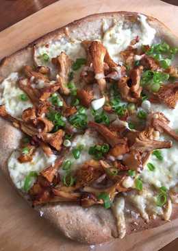 Pizza med kantareller