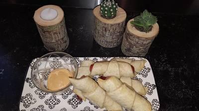Pølsehorn m havregryn og chili mayo