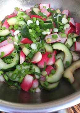 Smørdampede agurker og radiser