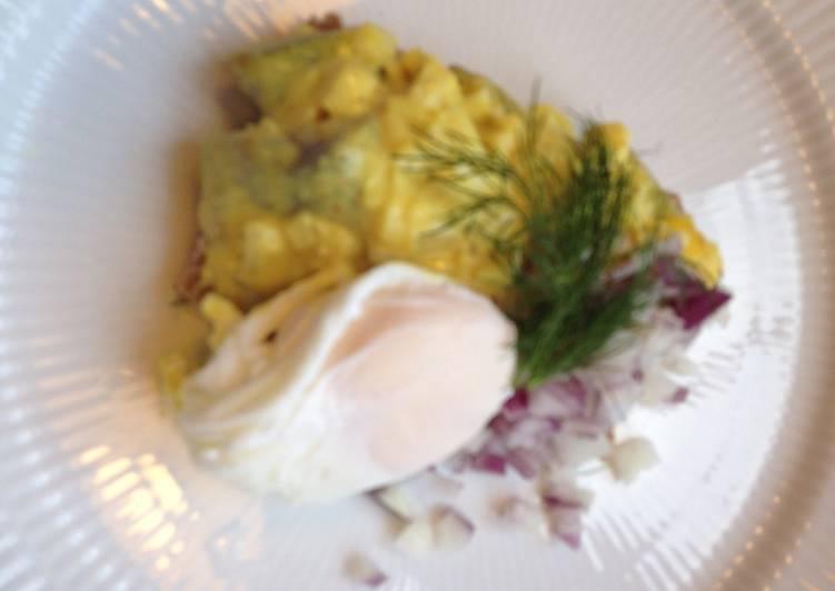 Karrysild M Pocheret æg Opskrift Af Iben Fritsche Cookpad