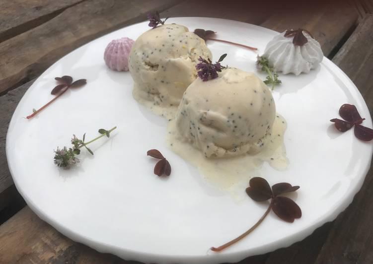 Citron-is med blå birkes - Rimmers Køkken