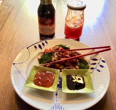 Japansk inspireret pyt i pande eller biksemad. Efterårskonkurrence